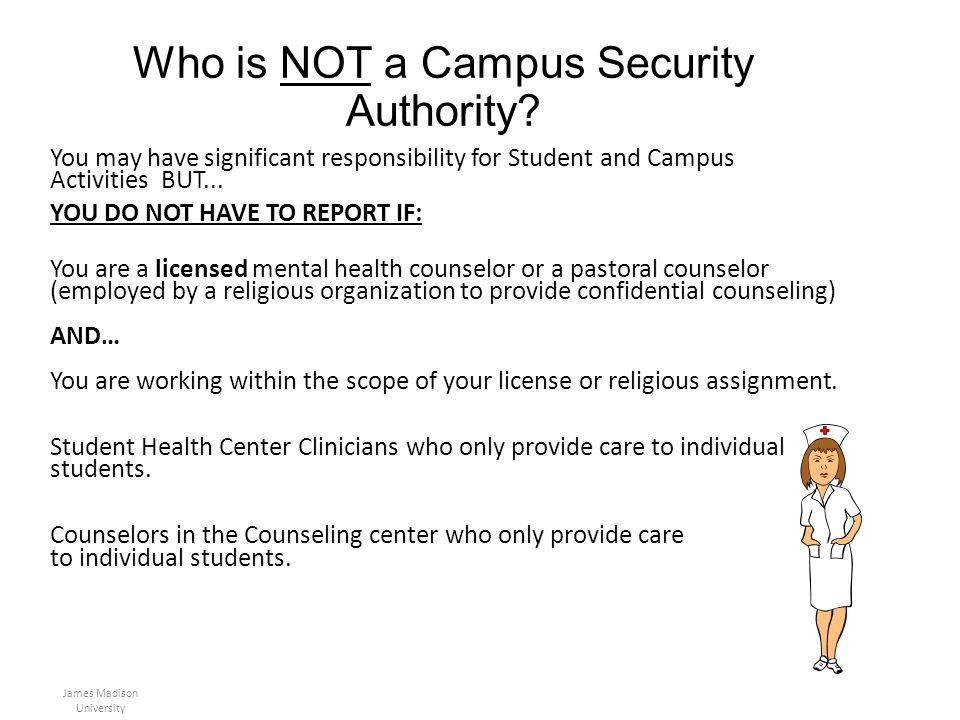 Who is NOT a Campus Security Authority