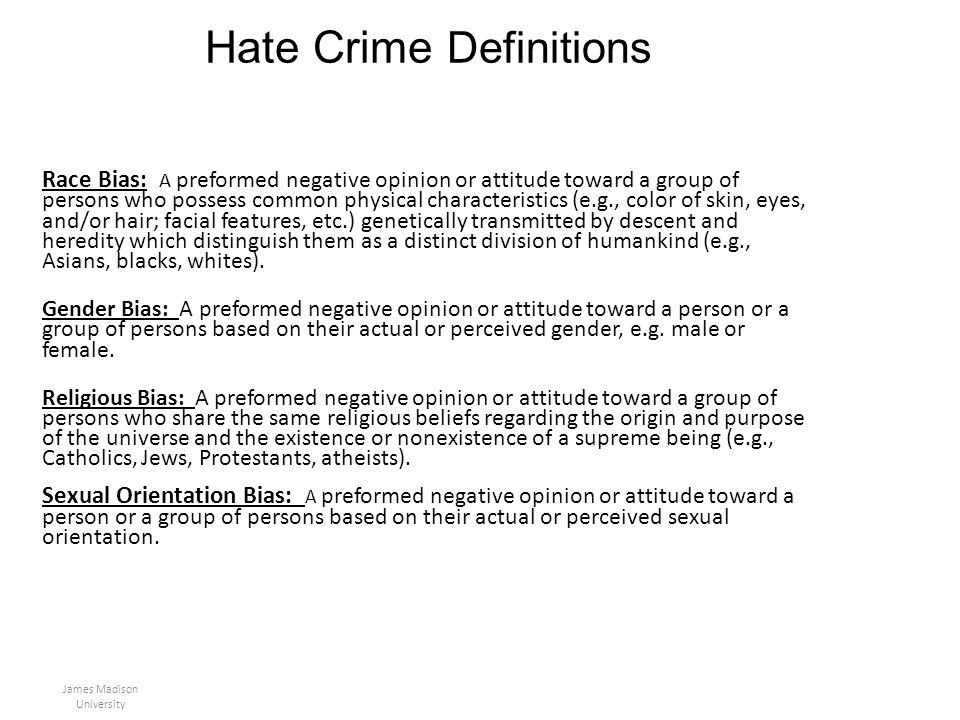 Hate Crime Definitions