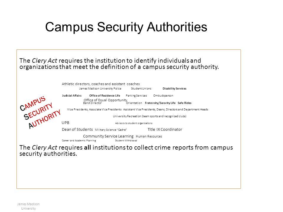 Campus Security Authorities