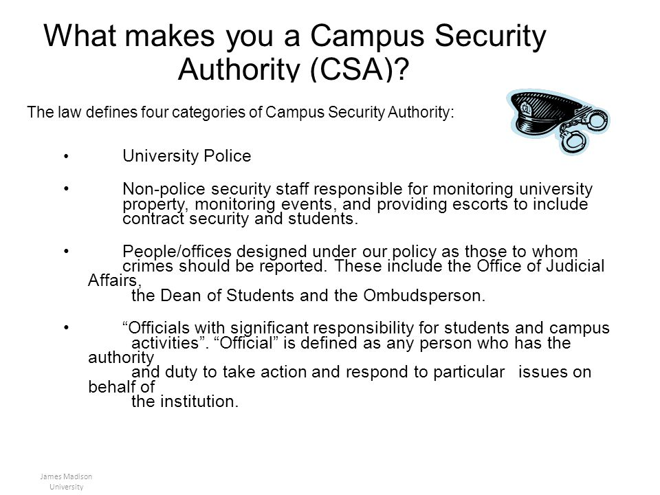 What makes you a Campus Security Authority (CSA)