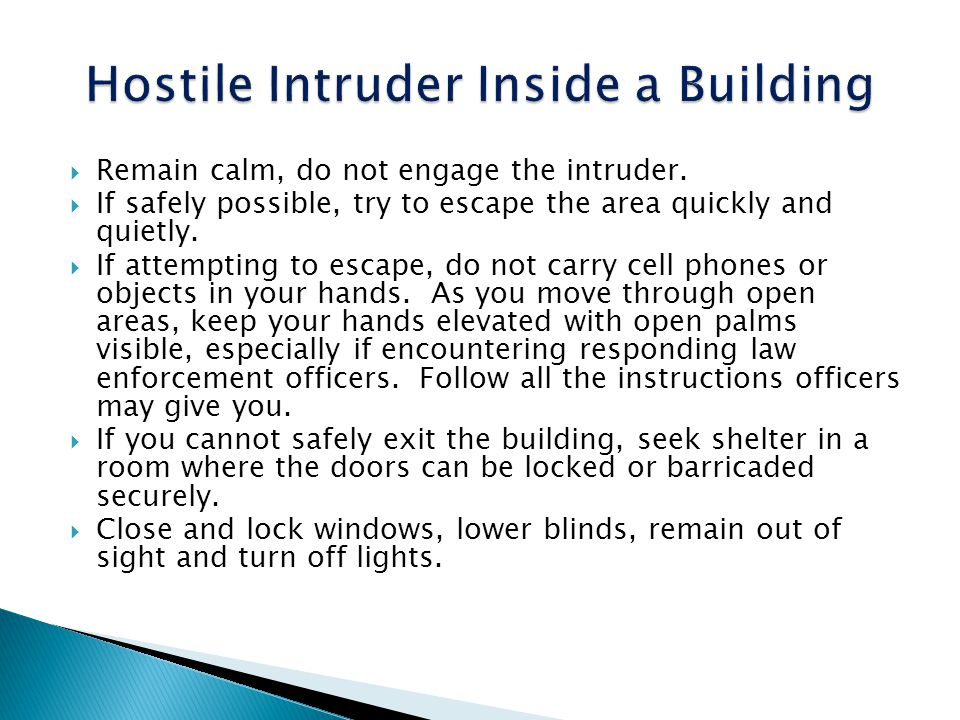 Hostile Intruder Inside a Building