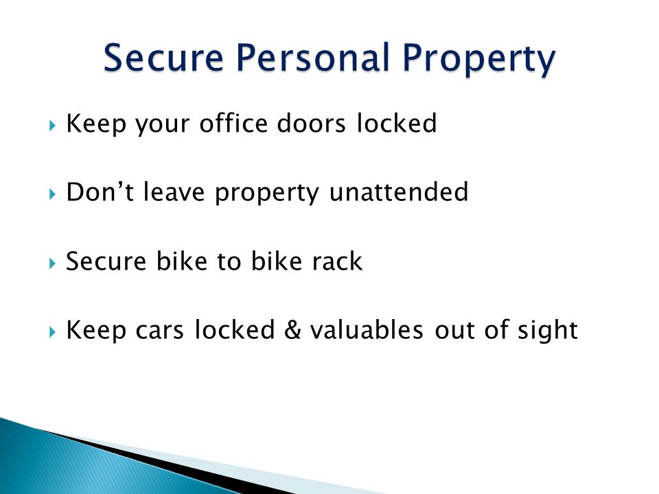 Secure Personal Property