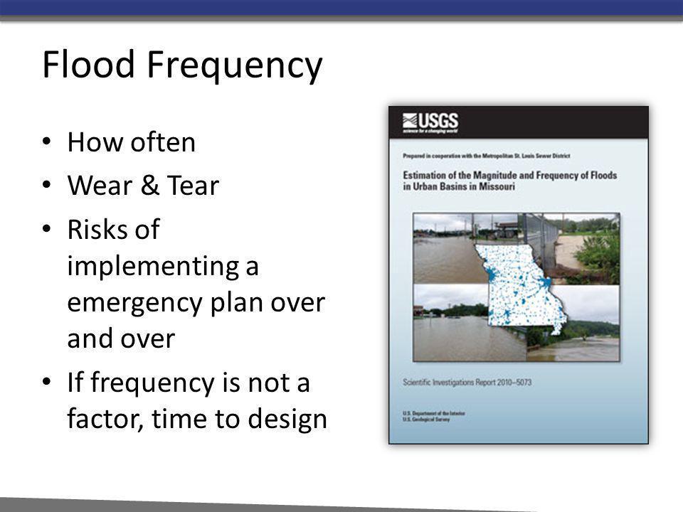Flood Frequency How often Wear & Tear