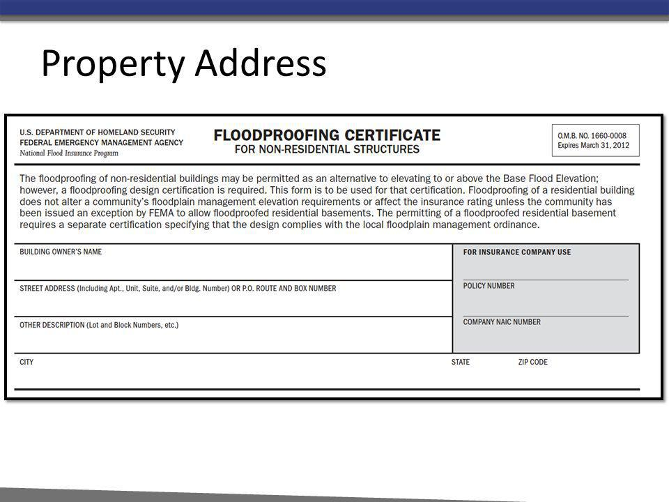 Property Address Building Location and ownership info