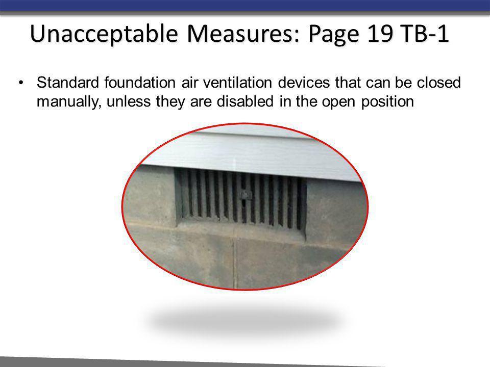 Unacceptable Measures: Page 19 TB-1