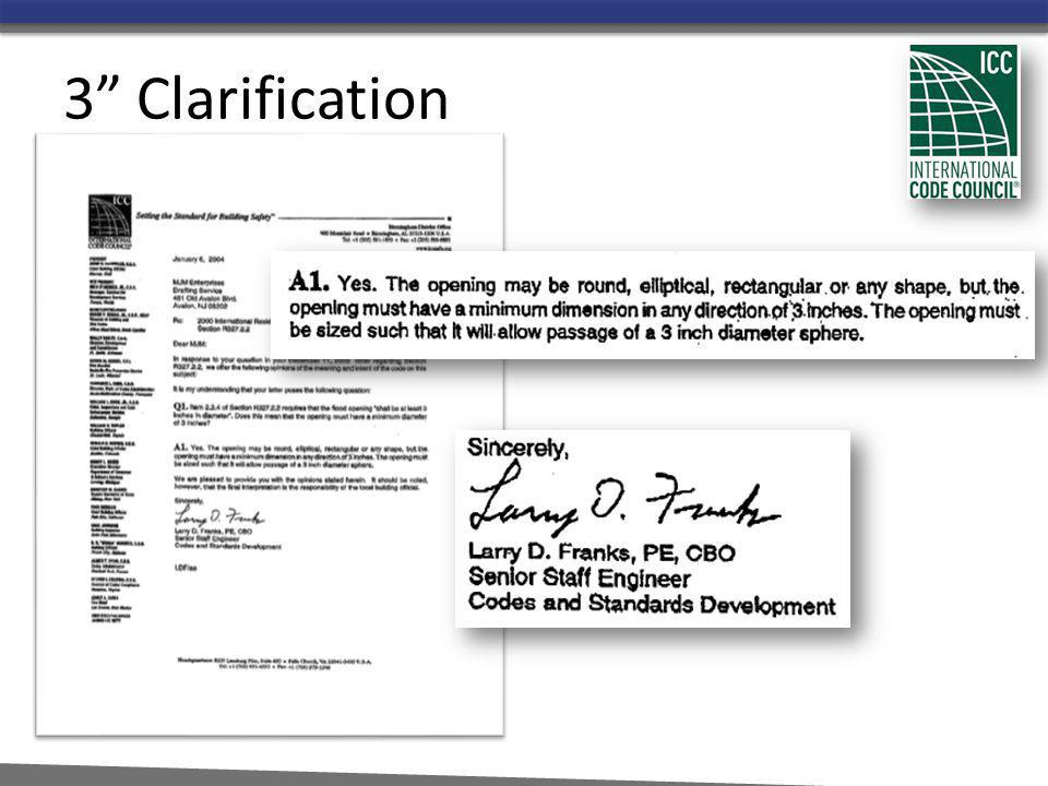3 Clarification The question asked of the ICC in 2004 by Licensed Design Professional.
