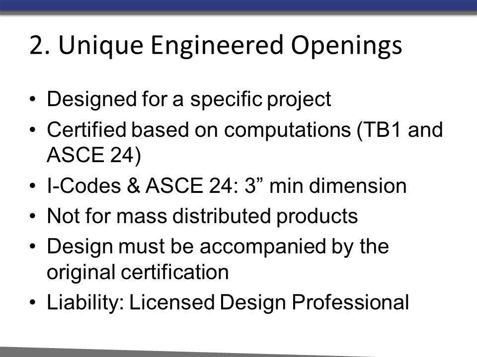 2. Unique Engineered Openings