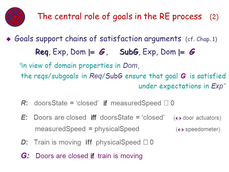The central role of goals in the RE process (2)