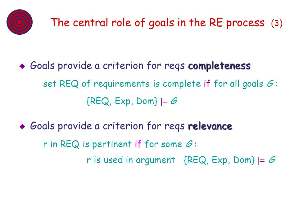 The central role of goals in the RE process (3)