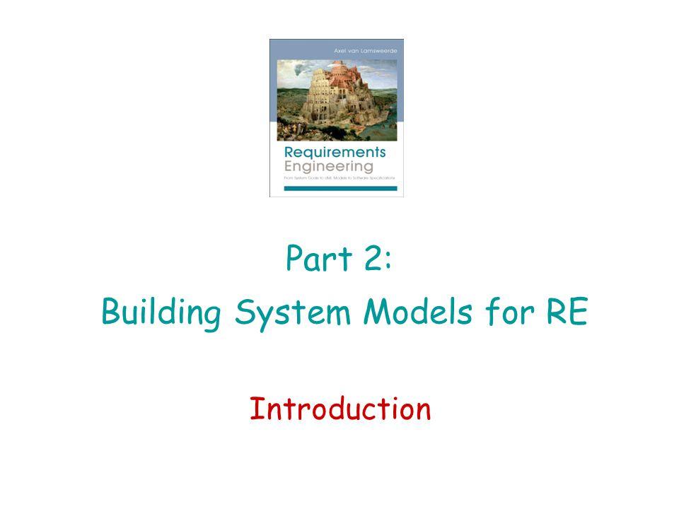 Part 2: Building System Models for RE