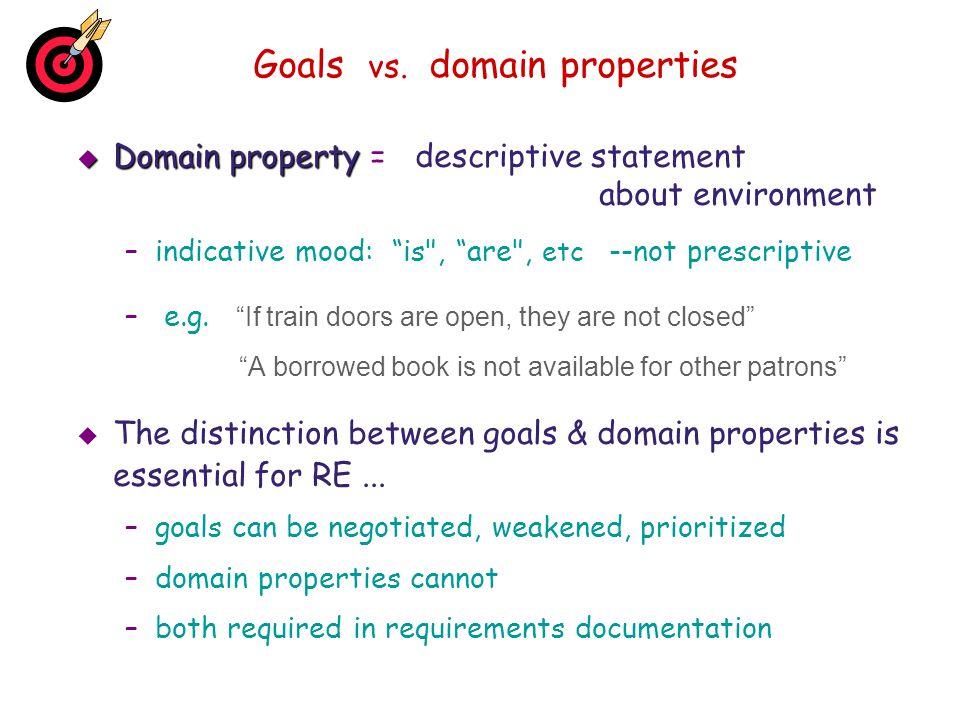 Goals vs. domain properties