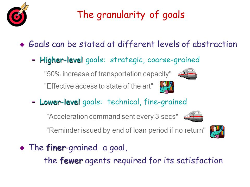 The granularity of goals