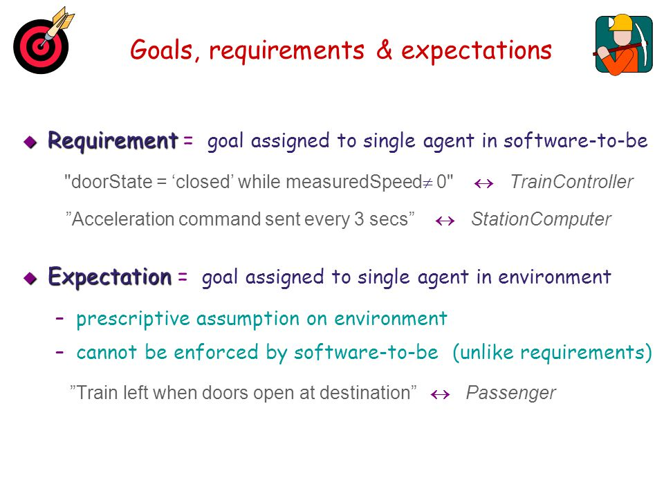 Goals, requirements & expectations