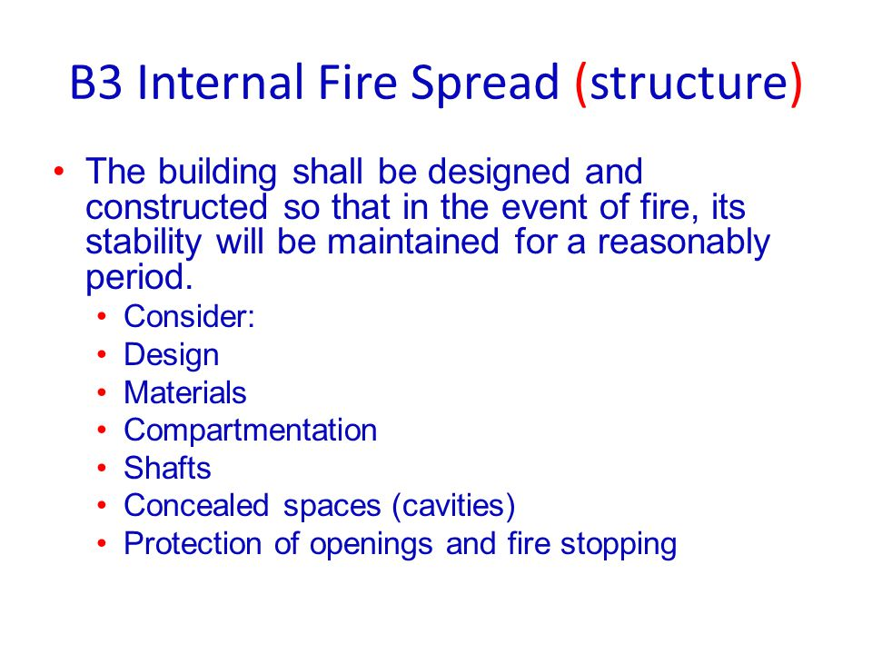 B3 Internal Fire Spread (structure)