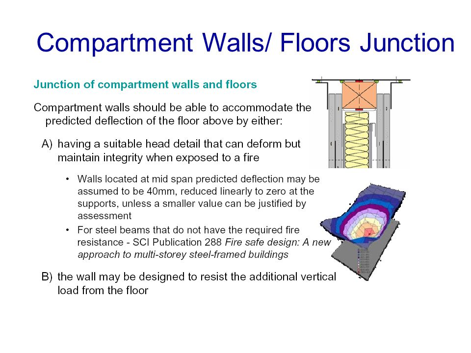 Compartment Walls/ Floors Junction
