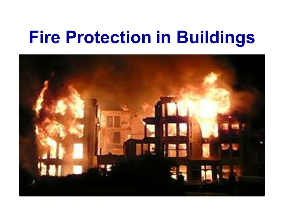 Fire Protection in Buildings