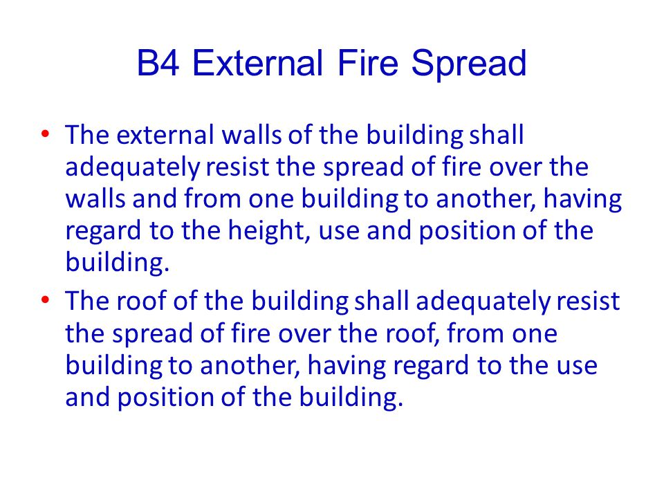 B4 External Fire Spread