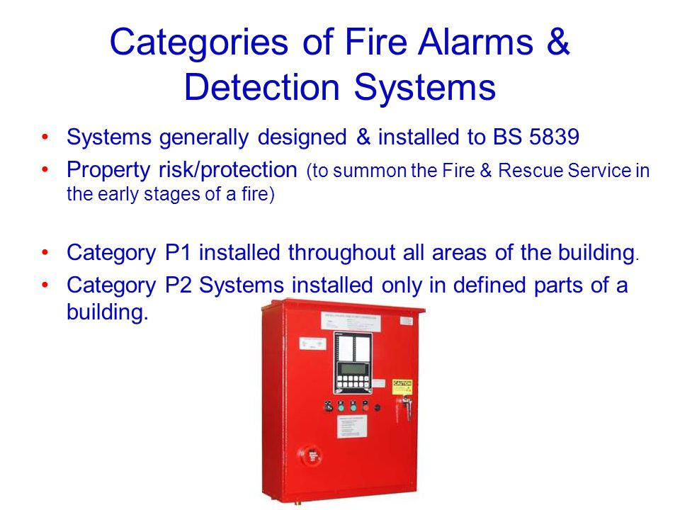 Categories of Fire Alarms & Detection Systems