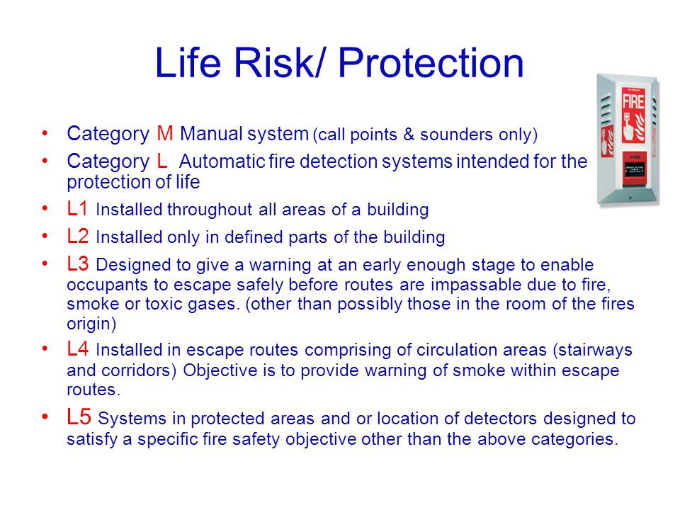 Life Risk/ Protection Category M Manual system (call points & sounders only)