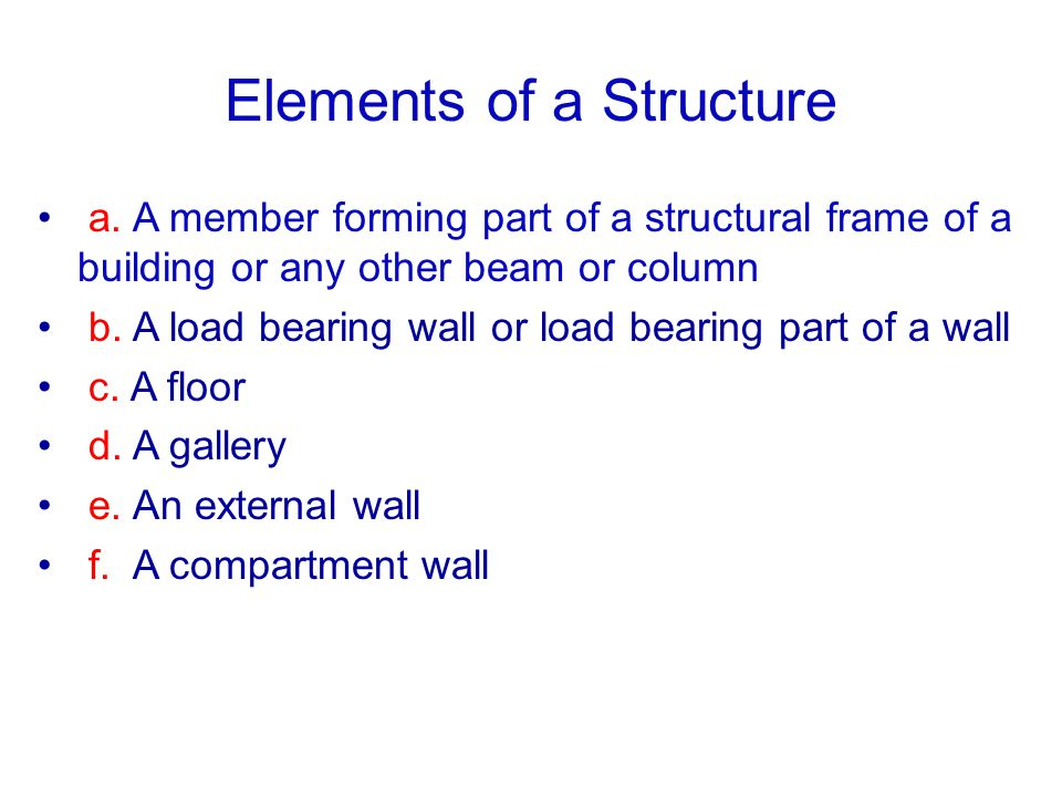 Elements of a Structure