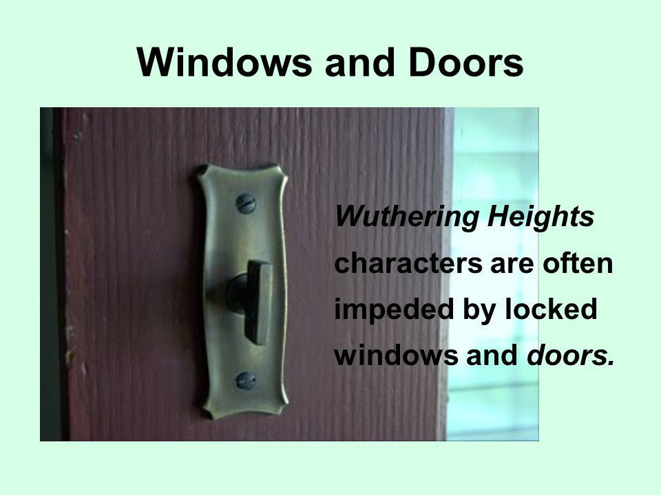 Windows and Doors Wuthering Heights characters are often