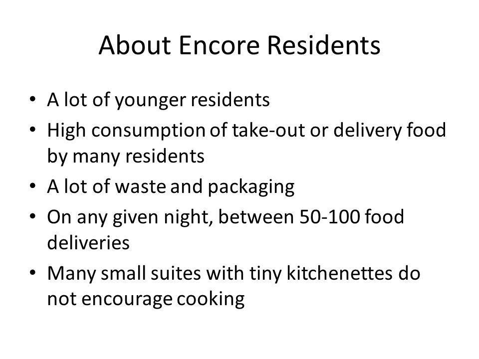 About Encore Residents