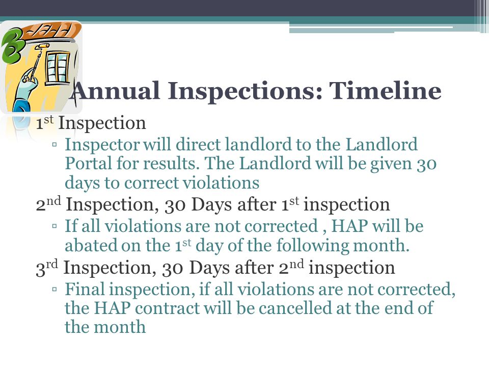 Annual Inspections: Timeline
