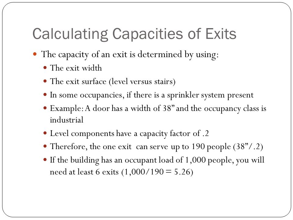 Determining The Occupant Load Ppt Download