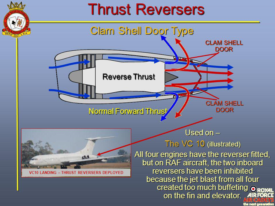 VC10 LANDING – THRUST REVERSERS DEPLOYED