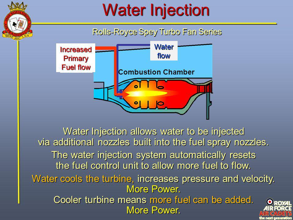 Water Injection Water Injection allows water to be injected