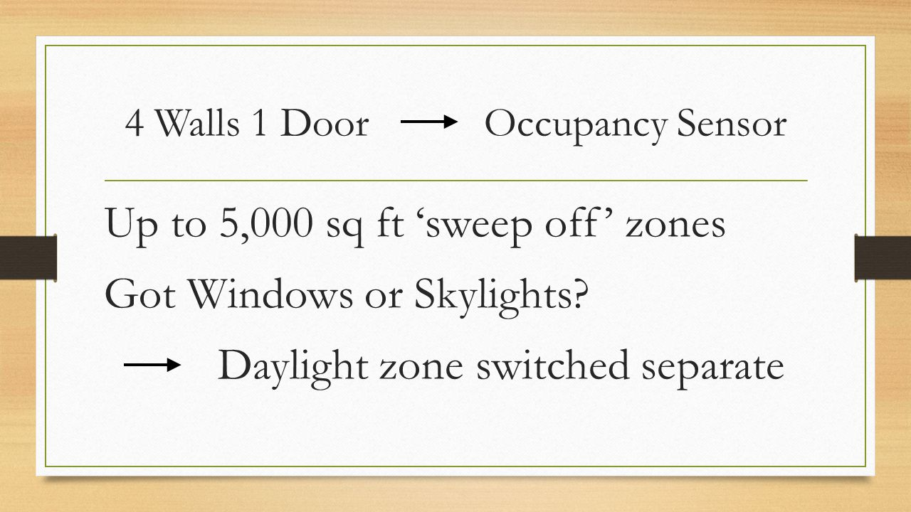 4 Walls 1 Door Occupancy Sensor