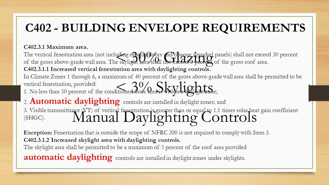 Manual Daylighting Controls