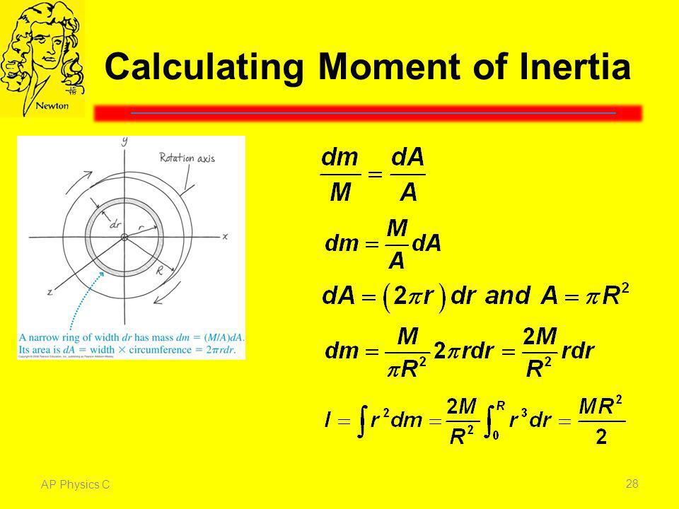Calculating Moment of Inertia