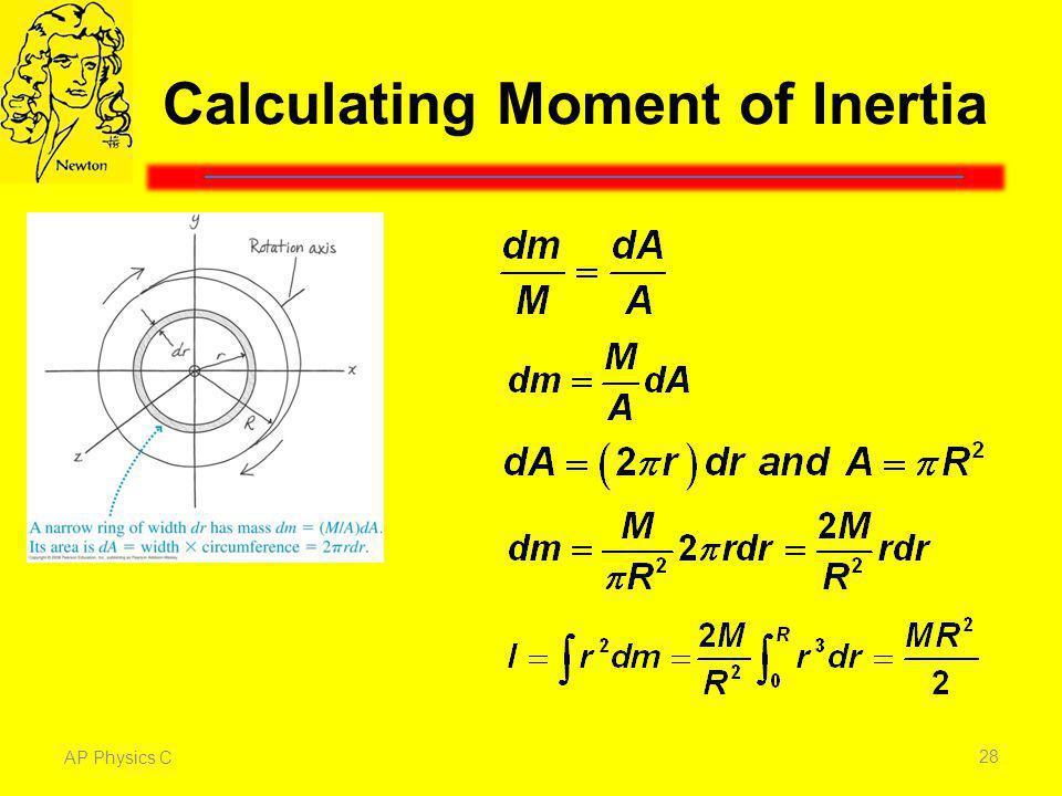 Calculating Moment of Inertia