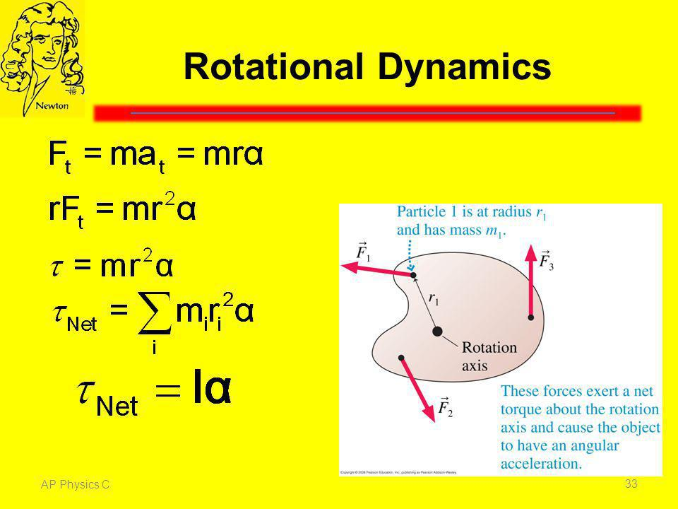 Rotational Dynamics Torque is the rotational equivalent of force.