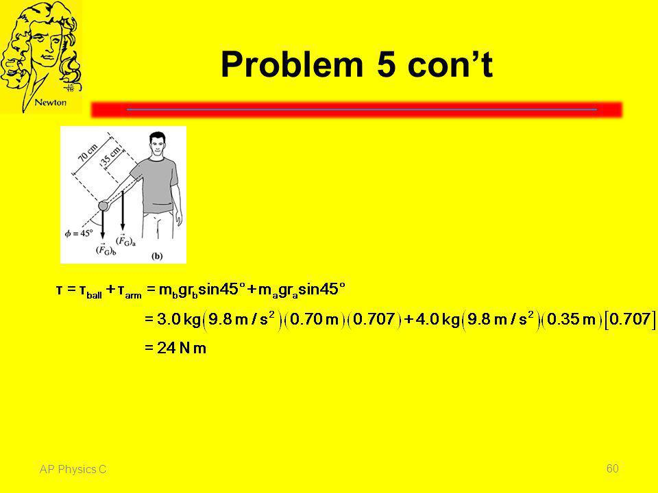 Problem 5 con't AP Physics C