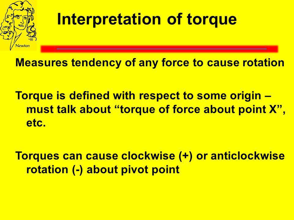 Interpretation of torque