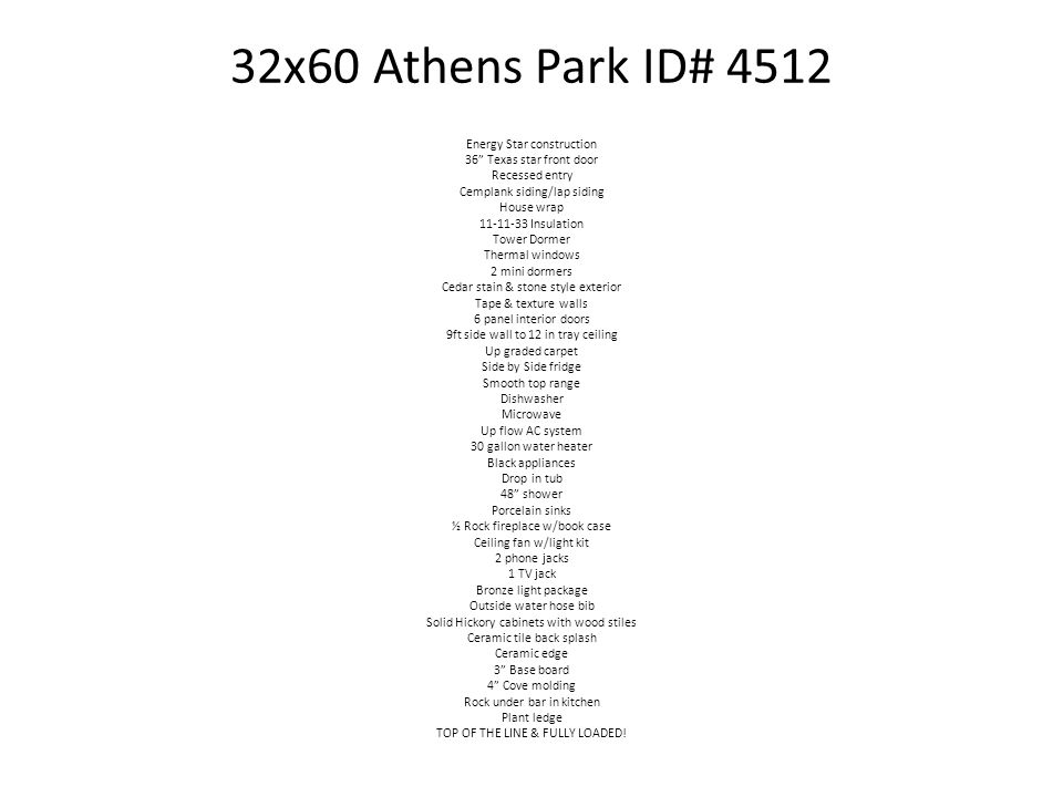 32x60 Athens Park ID# 4512