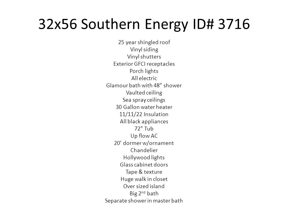 32x56 Southern Energy ID# 3716