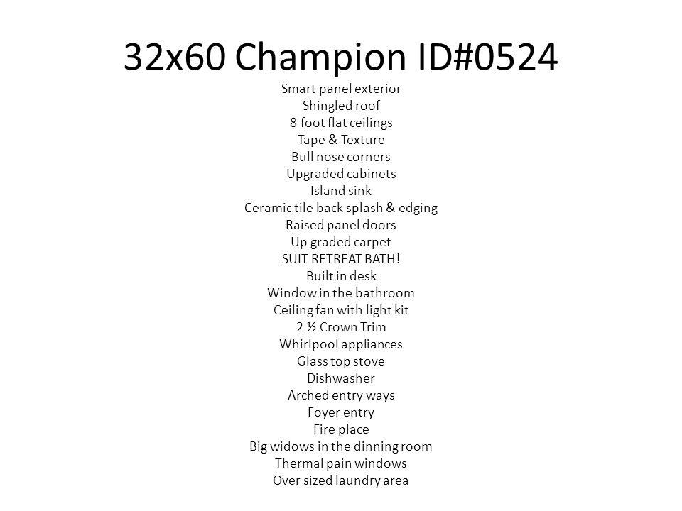 32x60 Champion ID#0524 Smart panel exterior Shingled roof