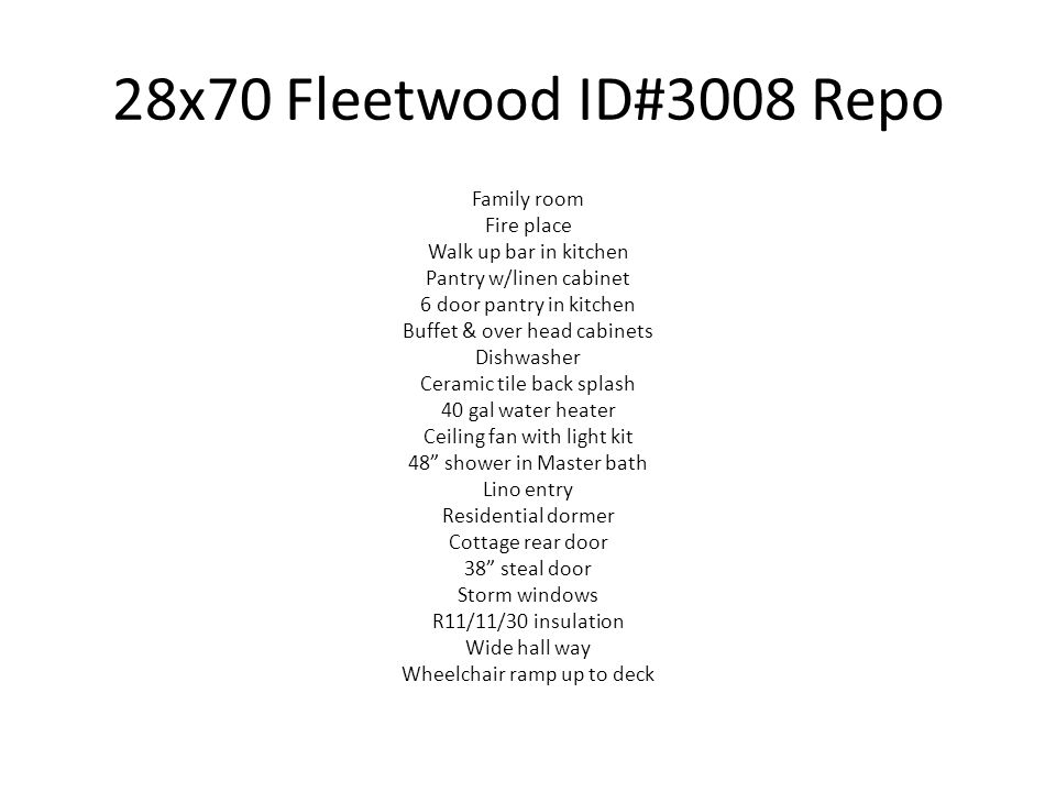 28x70 Fleetwood ID#3008 Repo