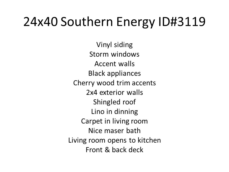 24x40 Southern Energy ID#3119