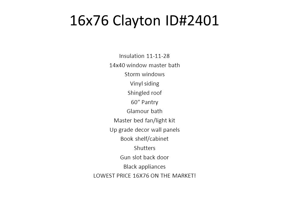16x76 Clayton ID#2401