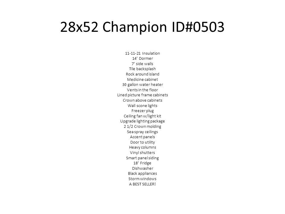 28x52 Champion ID#0503
