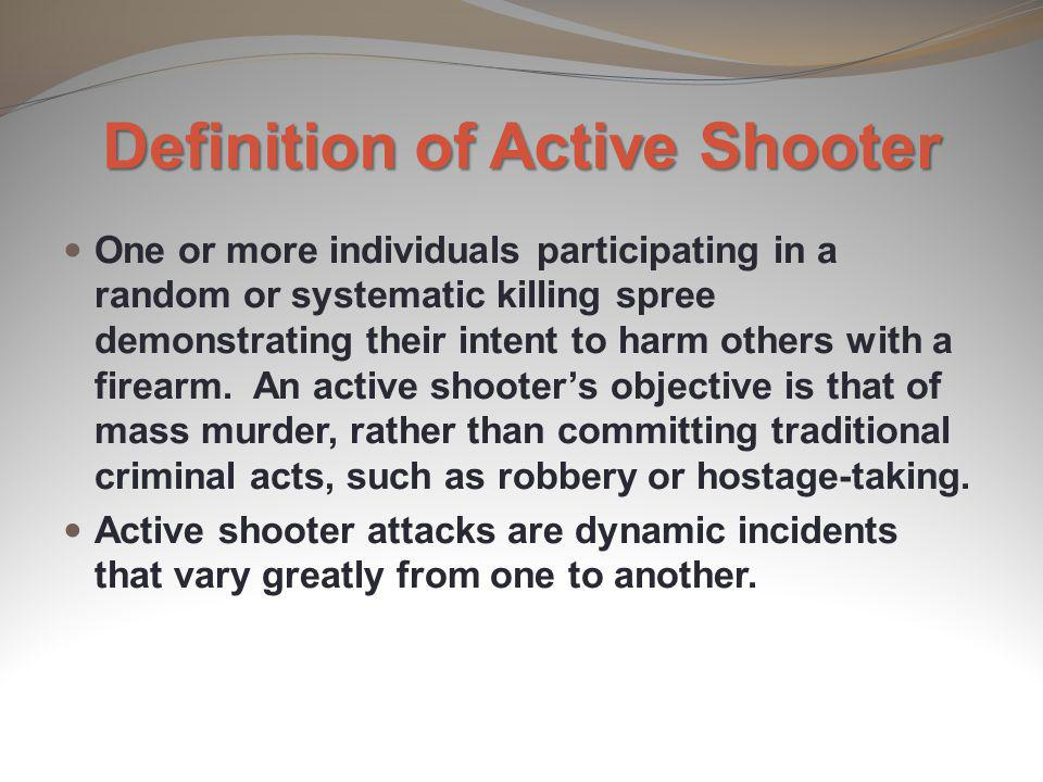 Definition of Active Shooter