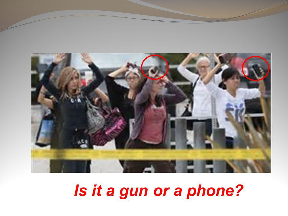 Is it a gun or a phone