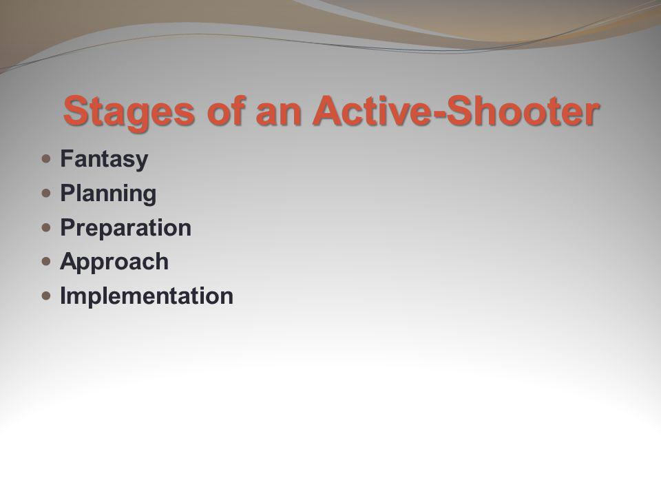 Stages of an Active-Shooter