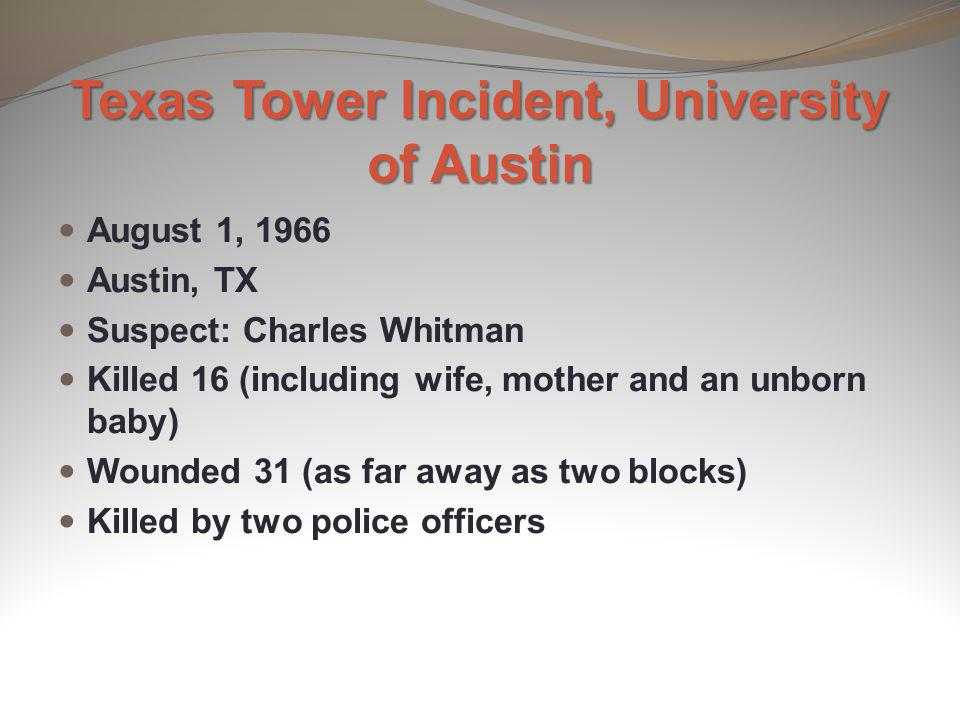 Texas Tower Incident, University of Austin