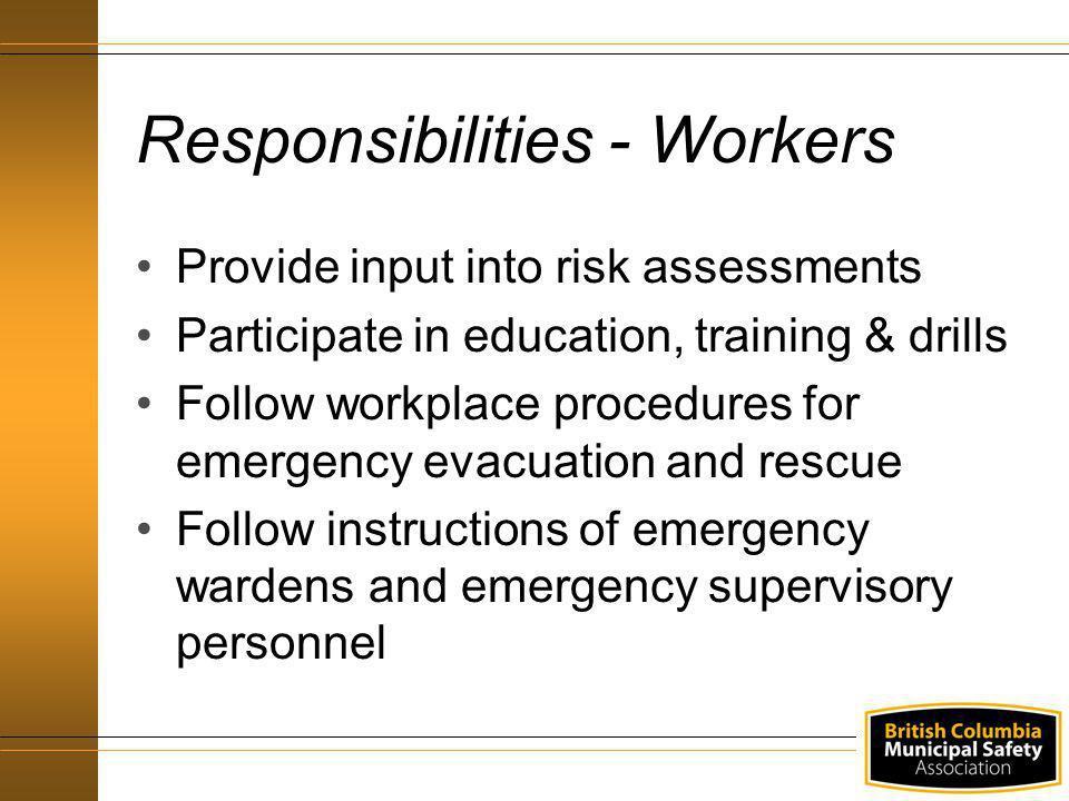 Responsibilities - Workers