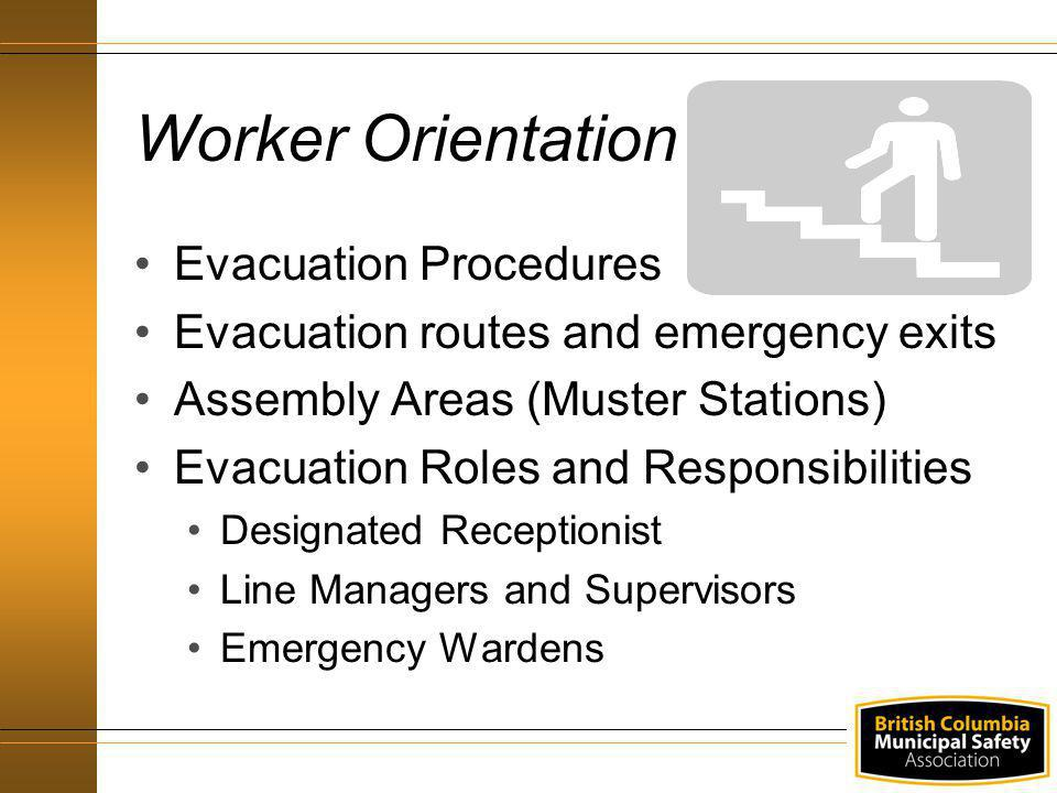 Worker Orientation Evacuation Procedures